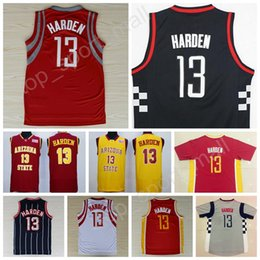 Wholesale Usa Cities - Good Quality 13 James Harden Jersey Man 2014 USA Dream Throwback Chinese Harden Basketball Jerseys Gray Alternate Red Pride Clutch City
