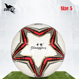 Wholesale Cheap Soccer Balls - Original Brand Professional Size 5Euro Football Ball 2016 Pu Leather Official Soccer Ball Cheap Foot Ball Training Soccer Goal
