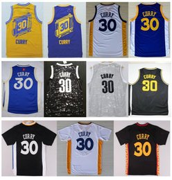 Wholesale Basketball Jersey Material - Cheap New #30 S Curry Jersey 2016 Best Quality Stitched Blue White Black New Material Rev 30 Embroidery Basketball Jerseys