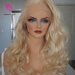 Wholesale Lace Front Wigs Color 613 - Top Quality 613 Full Lace Human Hair Wigs Platinum Blonde Vrigin Peruvian Wavy Blonde Human Hair Wig With Bleached Knots And Baby Hair