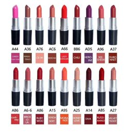Wholesale Can Tops - free shipping hot selling new brand makeup top quaity matte lipstick 18 colors can choose