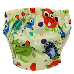 Wholesale Newborn Diaper Pants - 10 Pack Baby Training Pants Washable Reusable TPU Waterproof Nappy Diaper Bamboo Newborn Cloth Diaper Soft Baby LABS Pants
