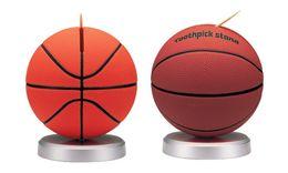 Wholesale Toothpicks Dispensers - Wholesale- Free Shipping 1Piece Basketball Football Automatic Toothpick Holder Plastic Toothpick Dispenser Stand Storage Box