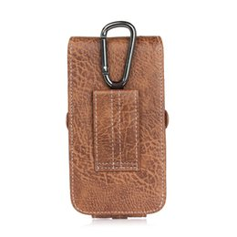 Wholesale Cell Phone Case Belt Clip - for iPhone 7 Plus Holster PU Leather Holster Belt Card Cell Phone Case with Buckle for iPhone 8 Samsung Note 8 and More Phone under 6.3 inch