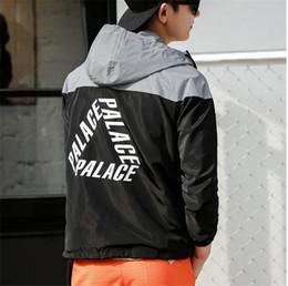 Wholesale Couple Gloves - PALACE Double Tide Brand OFF WHITE hip hop Reflective Tunic Coat 3M Reflective Triangle Mosaic Couple Luminous Jacket Glove Jacket yeezus