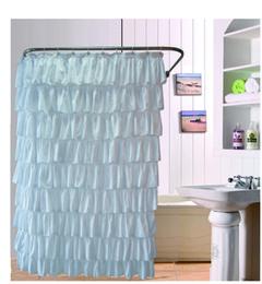2019 eco amigável espessamento chuveiro cortina Venda Por Atacado- Ruffles Cortina De Banho De Poliéster Bath Bath Curtain Screen