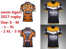 Wholesale High National - 2017-2018 NRL National Rugby League NRL Wests Tigers 2017 jersey High-temperature heat transfer printing WESTS TIGERS 2017 HOME JERSEY