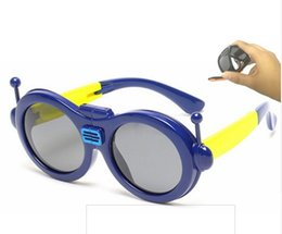 Wholesale Kids Girls Aviator Sunglasses - 881 Aviator Sunglasses Robot foldable Children Sunglasses Glasses Boys Kids Sunglasses Pilot Deisgn Polaroid Summer