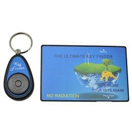 Wholesale Easy Key Finder Locator - High quality anti lost Rf wallet remote Wireless Key Finder Locator Easy Sound Whistle Remote Control Keychain Keyfinder