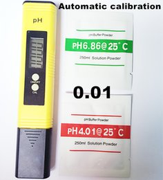 Wholesale Automatic Meter - Wholesale- 100Pcs by DHL Fedex PH tester meter accuracy 0.01 conductivity electrolyte purity instrument Aquarium automatic calibration 6%