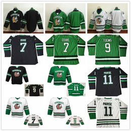North Dakota Fighting Sioux College Hockey Jerseys 9 Jonathan Toews 11 Zach  Parise 7 T.J. Oshie University Mens Stitched Jersey 11 sioux hockey jersey  for ... 6b7fab29c