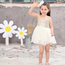 vestidos de estilo princesa para meninas Desconto 2017 nova princesa menina vestidos de festa verão lantejoulas malha tutu estilo vestido de noiva roupas meninas g319
