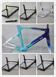 Wholesale Seat Post White - 2016 Lurhachi 7 Colors For New Carbon Fiber Road Bicycle Frame+Fork+Seat Post+Clamp+Headset+bb386(bb30 or bb68 adapter)