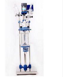Wholesale Reactor Vessel - 5L Chemical lab Jacketed Glass Reactor Vessel digital display