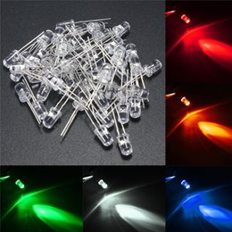 lampara led cuentas blanco frio Rebajas Diodo led F5 que ilumina los diodos LED del sombrero de paja Utra Chip brillante llevado 5m m corto rgb del plomo