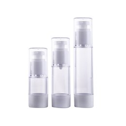 Wholesale Perfume Making - Wholesale- Make Up Skin Care Lotion Case Container Cosmetic Bottles Plastic Transparent Small Empty Outdoor Travel Perfume Spray Bottle