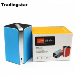 Wholesale Wireless Outdoor Amplifier - TG011 New Mini square Bluetooth speaker portable MP3 HIFI Bass woofer Amplifier Radio FM handsfree call With Retail Package