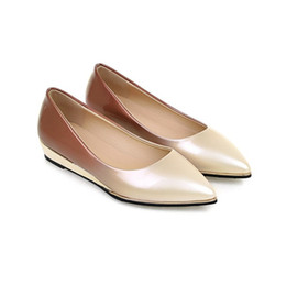 Wholesale Chocolate Careers - 2017 commuter style Mary Jane style pointed patent leather women's shallow mouth shoes at the end of the increase in flat shoes