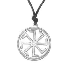 Wholesale Ethnic Long Necklaces - Slavic Kolovrat Slavonic in the Sun Simple Long Necklace &Amulet Pagan Bijouterie China Pendant Power Necklace Ethnic Jewelry
