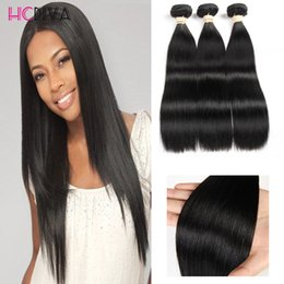 """Wholesale Human Hair Weave Bleachable - 8A 100% Brazilian Silk Straight Human Hair Weaves 3 Bundles Mix Length 8""""-28"""" Double Weft Hair Extensions Dyeable Bleachable Thick 300g"""