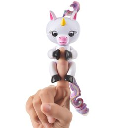 Wholesale Babies Funny - Funny Cute Gigi Unicorn Pre-sale Fingerlings Interactive Baby Unicorn Toy Electronic Smart Touch Finger Unicorn Toys ABS+PVC