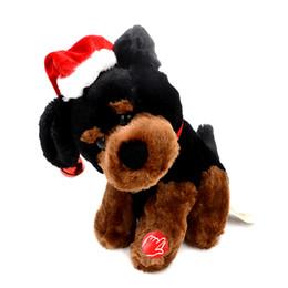 wholesale new 20cm plush singing u0026 dancing rotating electronic music pet dog funny interactive plush stuffed christmas gift toys uk