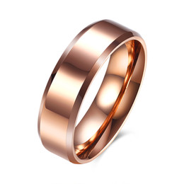 Wholesale Gold Men Rings Design - New Design Simple Men 's Steel Ring Jewelry Wholesaler Factory Direct Cost-effective Rose Gold Plated Finger Ring Size 7 8 9 10 Popular