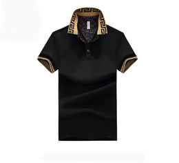 Wholesale mens slim fit casual shirts - Mens Polo Shirt Brand Plus Size M-5XL Cotton Polo Shirt Men Slim Fit Brand Clothing Black Solid Polo Shirt