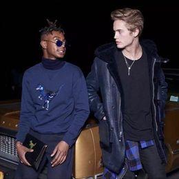 Wholesale Good Coat Brands - 18FW Brand Dinosaur Printing Embroidery hoodies Sweatshirt Men Women Couple Top Coats Fashion Hip Hop Good Quality HFWPWY001