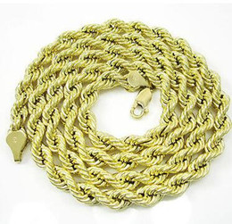 """Wholesale Party Gram - 24"""" Inch 5.5mm 11 Grams Mens Ladies 10k Yellow Gold Rope Hip Hop Chain Necklace"""