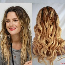 24 613 человеческих волос парики Скидка Ombre блондинка 1b / 613 цвет бразильский шелк база парик высокое качество свободные волны человеческих волос парик натуральный блондинка длинные волны парики для женщин