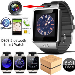 Wholesale Wrist Watch Retail - Bluetooth Smart Watch Phone & Camera Support SIM Card For Android iOS Phone DZ09 With the Retail Box