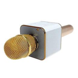 micrófono ktv Rebajas Q7 Micrófono de mano inalámbrico Bluetooth KTV con altavoz Mic Micrófono de mano portátil Reproductor de Karaoke portátil para teléfono inteligente OTH329