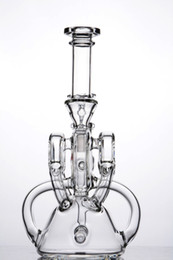 narghilè di bicicletta Sconti Cancella bicicletta styling 14 mm giunto a mano Beaker tubo di acqua di vetro bong riciclatore piattaforme petrolifere narghilè dab rig perc con ciotola spedizione gratuita