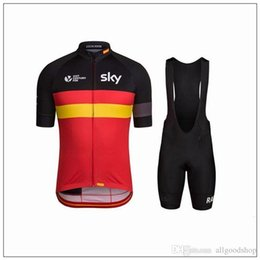 Wholesale Cycling Bib Shorts Sky - New Sky Cycling Jerseys Short Sleeve Jersey Bib Shorts Set Pro Team Sky Cycling Clothing Maillot Bike  Bicycle Wear For Breathable