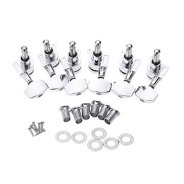 Wholesale Locking Guitar Tuner - 6pcs set Chrome Lock Sealed Guitar Tuning Pegs Tuners Machine Heads 3R 3L Electric Acoustic Guitar Parts