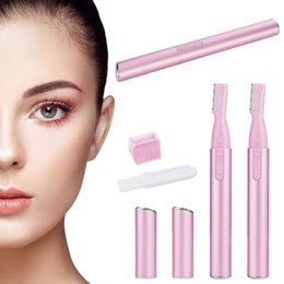 Wholesale Electric Body Shaper - Wholesale- Electric Lady Trimmer Epilator Shaver Battery Operated Silk Smooth Eyebrow Armpit Hair Bikini Line Body Shaper Shaverfor Female