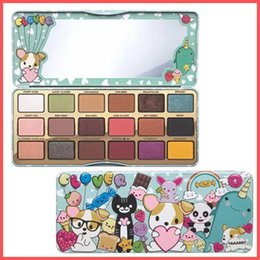Wholesale Eyeshadow Faced - Free Shipping by ePacket High Quality Makeup to face Clover Palette A Girl's Best Friend Eye Shadow 18 Colors Eyeshadow Matte Palette+Gifts