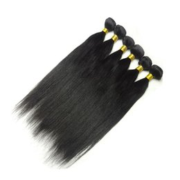 Wholesale Express Shipping Hair - Cheap Hair Extention,6pcs Lot Malaysian Human Hair Straight ,Malaysian Remy Virgin Hair ,Mix length 12-20 inch,Express Free Shipping