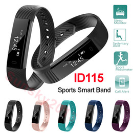 """Wholesale Touch Screen Wrist Band Watch - Sports Smart Band Bluetooth Watch ID115 Fitness Tracker 0.86"""" OLED Touch Screen Pedometer Sleep Monitor Wristband for iPhone Android Phone"""