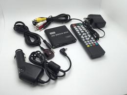 мини-миль на галлон Скидка Оптово-JEDX MP021 Plus 1080p Full-HD ультра-портативный цифровой медиа-плеер с ИК-удлинителем для USB-накопителей и SD / SDHC-карт Автомобильный адаптер