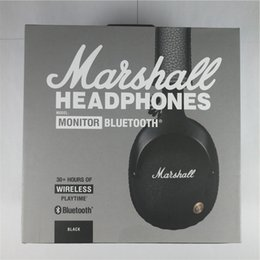 Wholesale Wholesale Hinges - MARSHALL MONITOR Bluetooth Headphones Hi-Fi Prowess Wireless Bluetooth Heavy-Duty Cast Metal Hinge Extreme Comfort Experience free shipping