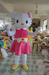 Wholesale Cheap Xxl Dresses - High quality Hello Kitty Mascot Costume adult size Hello Kitty costume character onesies cheap fancy dress costumes