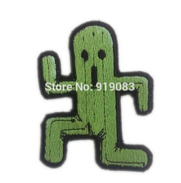 "Wholesale Fantasy Appliques - 3"" Final fantasy FFVII Cactuar patch Comics tv movie Embroidered Emblem applique iron on patch halloween cosplay costume"