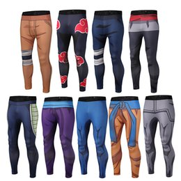 Wholesale Dark Purple Leggings - Men's Fitness Quick Dry Pants Dragon Ball Z Super Naruto Goku Black Vegeta Cosplay bodybuilding Skinny Leggings Trousers Tights Sweatpants