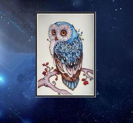 Wholesale Craft Owls - Gloden Panno 5D diy diamond embroidery Full round Diamond Painting Cross Stitch 3D diamond Mosaic Needlwork Crafts Animal Owl