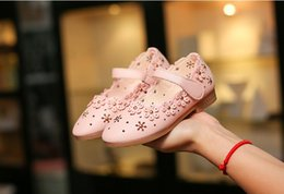 Wholesale Dancing Cow - children shoes girl dancing shoesNew Girls Shoes Yellow pink white Spring and autumn season sandals The little princess shoes