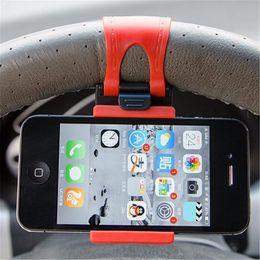 Çevre Marka Yeni Direksiyon Cradle Tutucu AKıLLı Klip Cep Cep Telefonu GPS Klip Araba Bisiklet için Montaj cheap smart car cell phone mount nereden akıllı araba cep telefonu montajı tedarikçiler
