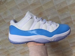 Wholesale Trainers Size 11 - Wholesale New 11 XI Low White Bule Men Basketball Shoes Sports Sneakers high quality cheap trainers good Discount Size 8-13