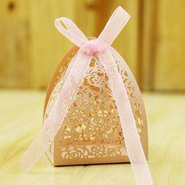 Wholesale Ferrero Rocher Candy - Wedding Favor Candy Box Mini Laser Engraved Gift Box Party Favors Creative Chocolate Box can Put 2 pcs Ferrero Rocher